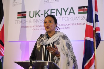 Amb.(Dr.) Amina Mohamed-Kenya-UK Trade & Investment Forum