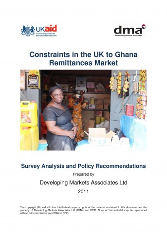 Report for DfID on Constraints in the UK-Ghana Remittances Corridor